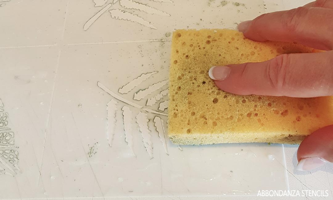 stencil schoonmaken