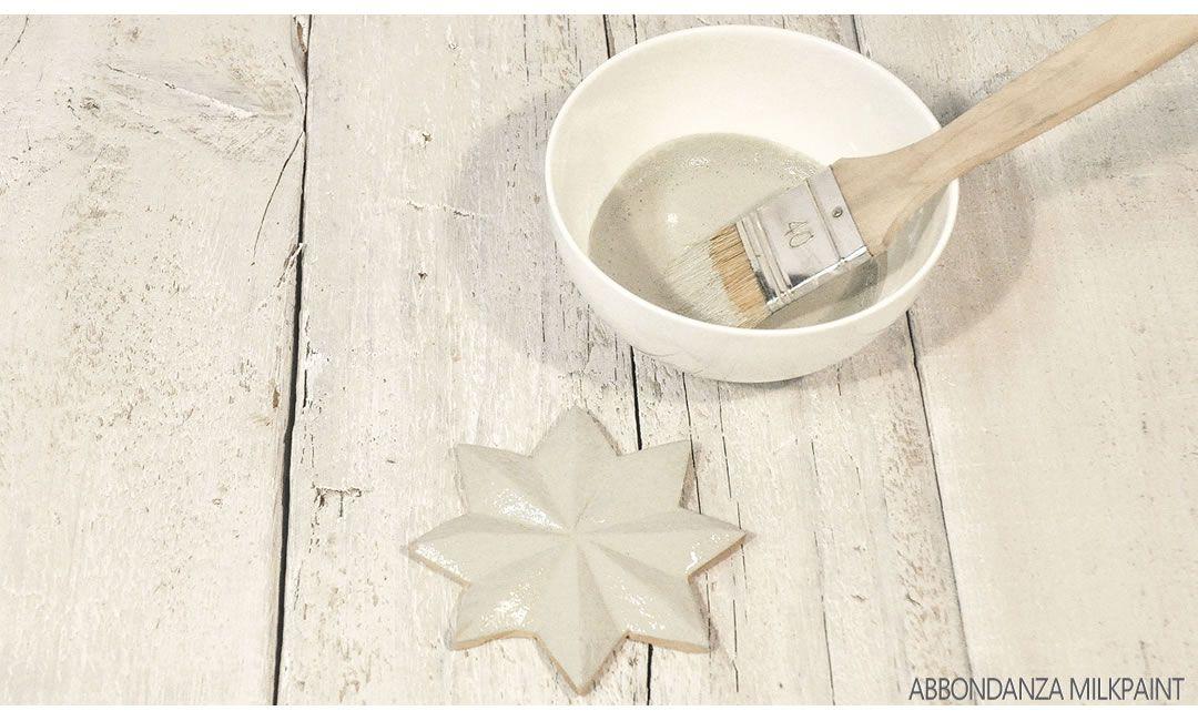Milk Paint houten ster